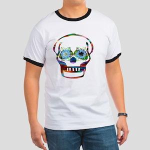 Colorful Skull Ringer T