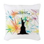 Bubble Wizardary Woven Throw Pillow