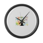 Bubble Wizardary Large Wall Clock