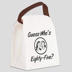Retro 85th Birthday Canvas Lunch Bag
