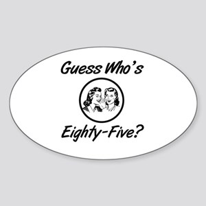 Retro 85th Birthday Sticker (Oval)