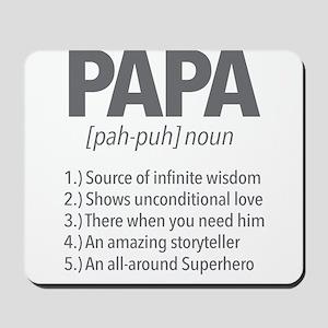 Papa Noun Definition Mousepad