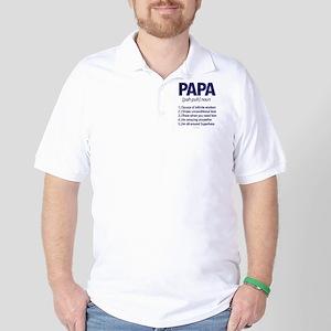Papa Noun Definition Golf Shirt