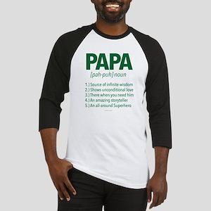 Papa Noun Definition Baseball Jersey