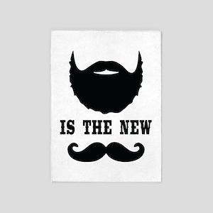 Beard Is New Mustache 5'x7'Area Rug