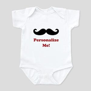 Customizable Mustache Infant Bodysuit