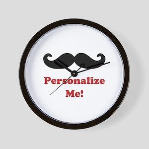 Customizable Mustache Wall Clock