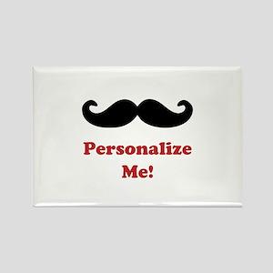 Customizable Mustache Rectangle Magnet