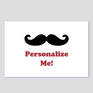 Customizable Mustache Postcards (Package of 8)