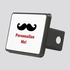 Customizable Mustache Rectangular Hitch Cover