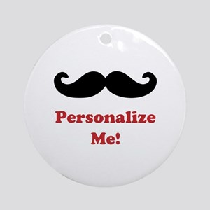 Customizable Mustache Ornament (Round)