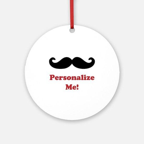 Customizable Mustache Ornament (Round)
