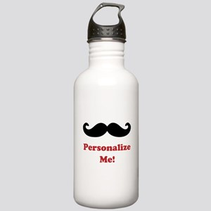 Customizable Mustache Stainless Water Bottle 1.0L