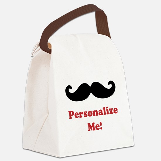 Customizable Mustache Canvas Lunch Bag