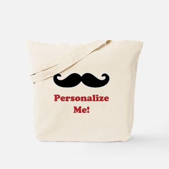 Customizable Mustache Tote Bag