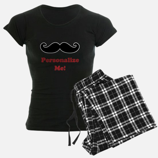 Customizable Mustache Pajamas