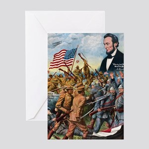 True sons of freedom Vintage Poster Greeting Card