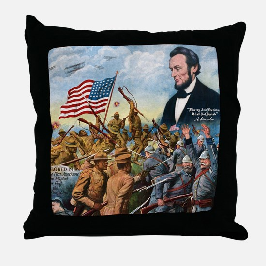 True sons of freedom Vintage Poster Throw Pillow