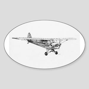 Piper Cub Oval Sticker