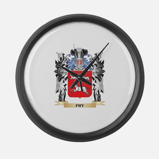 Fry Coat of Arms - Family Crest Large Wall Clock