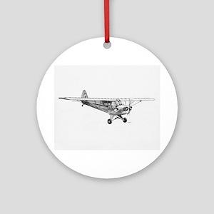 Piper Cub Ornament (Round)