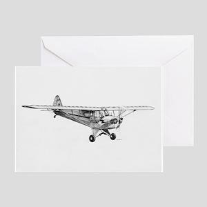 Piper Cub Greeting Card