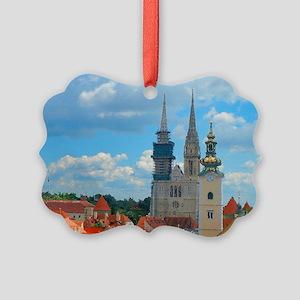 Croatia Skyline  Picture Ornament