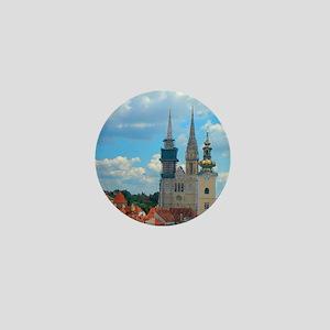 Croatia Skyline  Mini Button