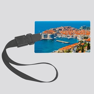 Croatia Harbor Large Luggage Tag