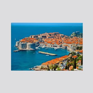 Croatia Harbor Rectangle Magnet