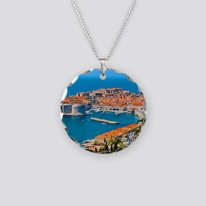 Croatia Harbor Necklace Circle Charm