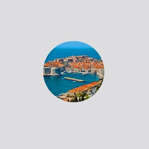 Croatia Harbor Mini Button