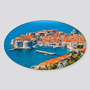 Croatia Harbor Sticker (Oval)