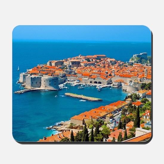 Croatia Harbor Mousepad