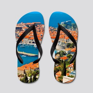 Croatia Harbor  Flip Flops