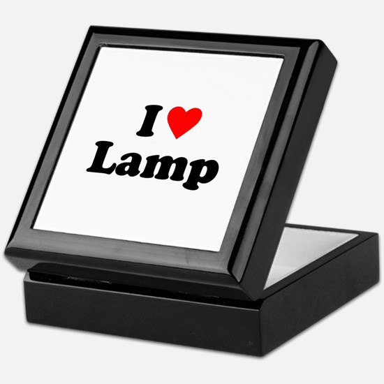 I Love Lamp Keepsake Box
