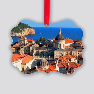 Croatia Downtown Picture Ornament