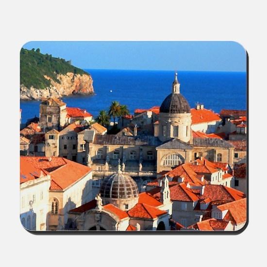 Croatia Downtown Mousepad