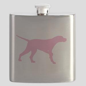Pink Pointer Dog Flask