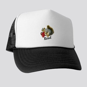 Squirrel Book Read Trucker Hat