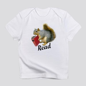 Squirrel Book Read Infant T-Shirt