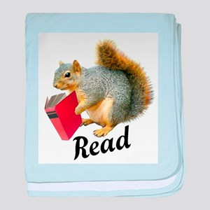 Squirrel Book Read baby blanket