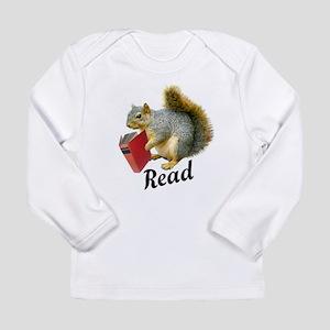 Squirrel Book Read Long Sleeve T-Shirt