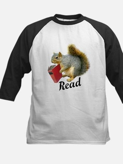 Squirrel Book Read Baseball Jersey