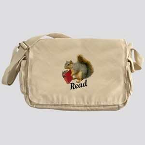 Squirrel Book Read Messenger Bag