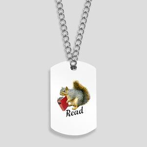 Squirrel Book Read Dog Tags