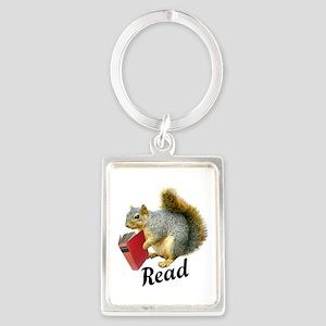 Squirrel Book Read Keychains