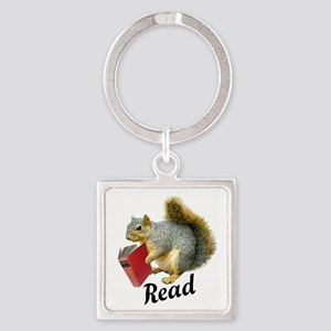 Squirrel Book Read Keychains