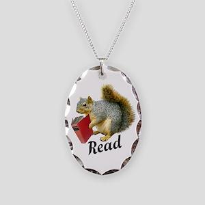 Squirrel Book Read Necklace