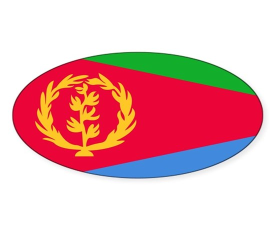 Flag of eritrea sticker oval